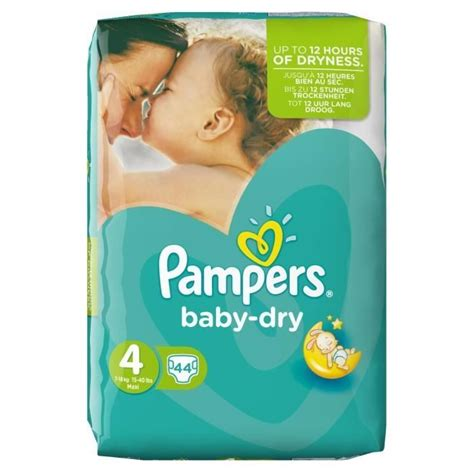Couche Pampers taille 4 Baby Dry pas chère (x44) - Maison