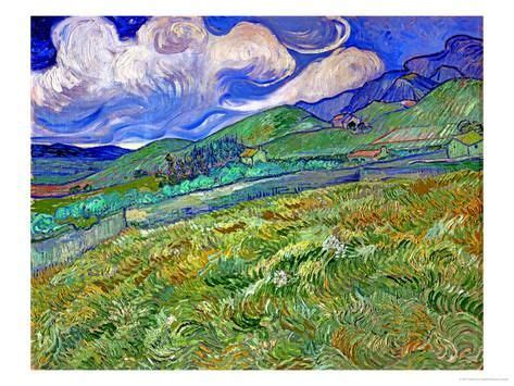 Wheatfield and Mountains, c