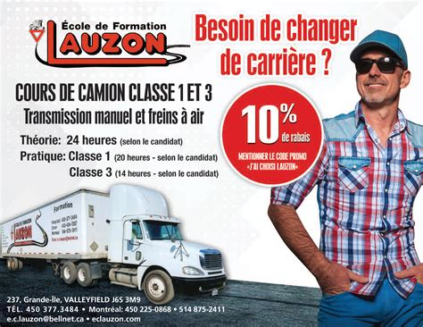 Permis Class 3 Valleyfield Vaudreuil-Dorion Châteauguay