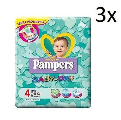 3X VINTAGE PAMPERS Baby Dry (2x 2006, 1x 2009) size 6, 88