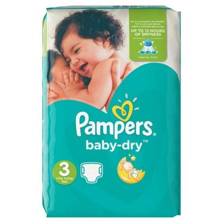 Couches pampers baby dry taille 3 à petit prix - 70
