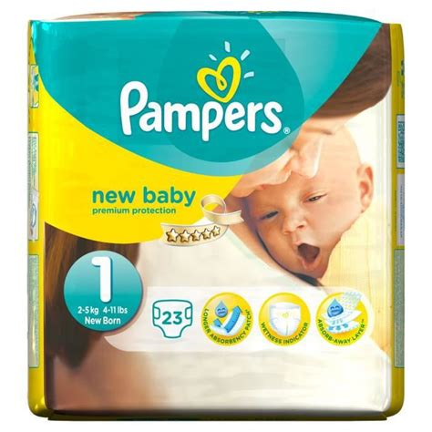 PAMPERS New Baby - Taille 1 - 2 à 5Kg - 23 couches - Achat