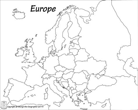 Blank Map Of Europe Pdf   Map Of The World
