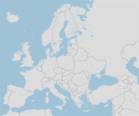 Blank Map Of Europe Large
