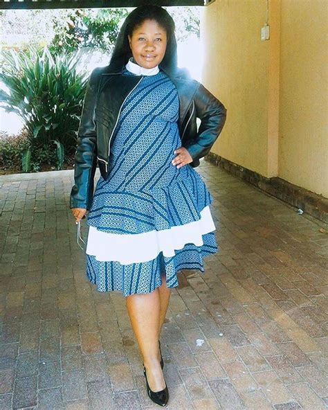 Lovely Traditional Dresses For South African Celeb